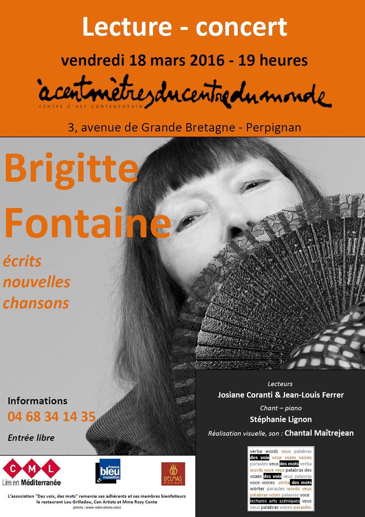 LECTURE : Brigitte Fontaine